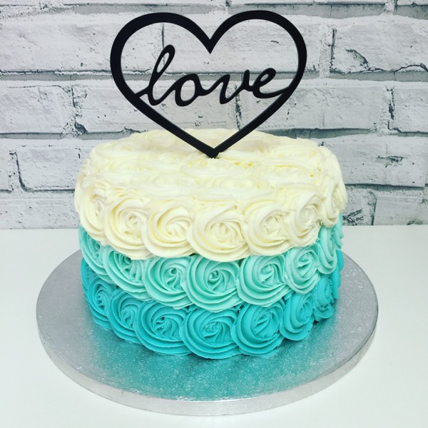 Ombre Rose with Love Topper