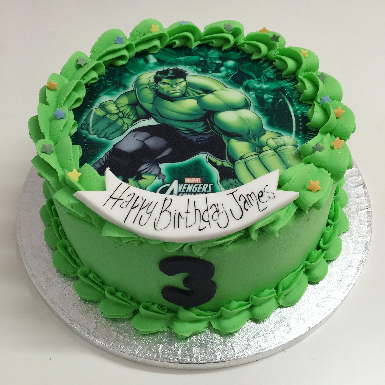 Spiderman And Hulk Birthday Cakes