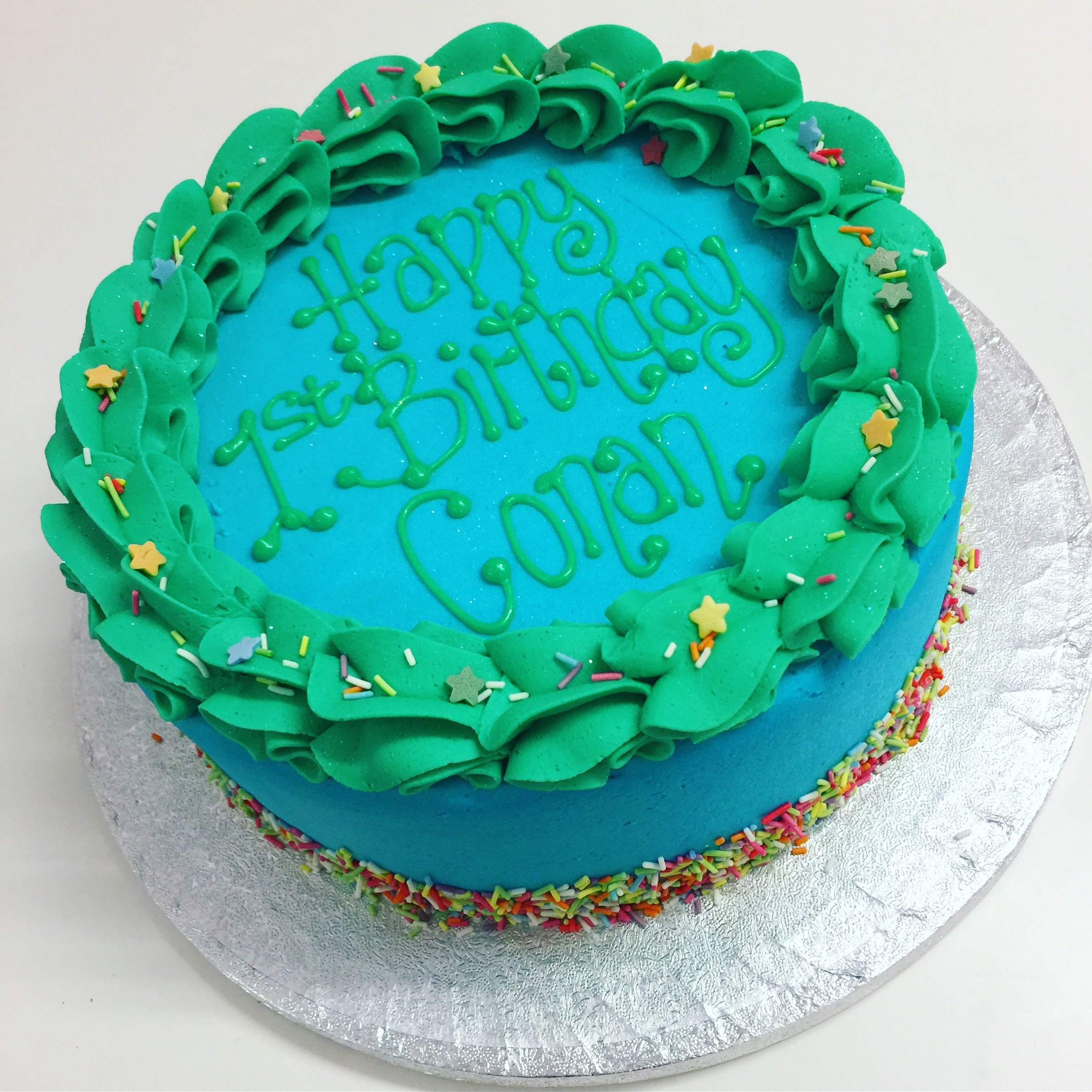 Blue & Green with Sprinkle Bottom